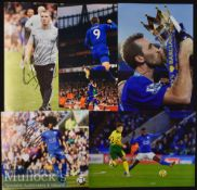 5x Signed Leicester City Colour Photographs Rogers^ Vardy^ Choudery^ etc^ measuring 30x21cm approx.