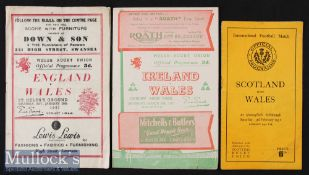 1951 Wales Five Nations Programmes (3): Irish Championship season. Wales' home issues v England (