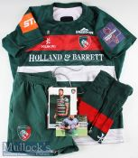 Leicester Tigers Complete Match Prepared Rugby Kit: Fully logoed 2018-19 3XL Jersey complete with