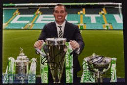 Brendan Rogers Signed Celtic coloured Photograph measures 30x21cm approx.