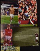 4x Signed Arsenal Colour Photographs Merson^ Torreira etc. measuring 30x21cm approx.