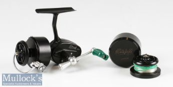 Scarce Mitchell 358 spinning reel with Prince logo, serial 281077, ratchet level check, with spare