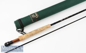 Fine and as new Orvis HLS RM (Rocky Mountain) Silver Label carbon trout fly rod – 9ft 6in 2pc line