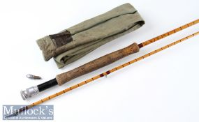 "Hardy Bros Alnwick ""The Pope"" Palakona fly rod ser. No. H52537 – 10ft 2pc with clear Agate butt"