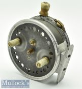 """J J S Walker Bampton 4"""" The Utility alloy casting reel with twin handle, smooth alloy foot, for"""