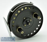 """J W Young & Sons 3 ½"""" Seldex centrepin reel with smooth alloy foot, bickerdyke line guide, twin"""