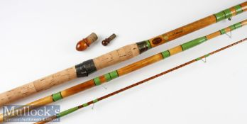 """Fine Marco """"Thames"""" Spanish reed coarse rod fully refurbished – 13ft 6in whole cane but and mid-"""
