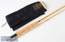"Fine Hardy Bros made in England ""The Palakona"" fly Rod – 8ft 2pc with clear Agate lined butt guide -"