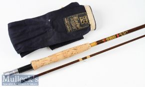 """Fine Hardy Bros Made in England """"Fibalite Perfection"""" fly Rod – 8ft 6in 2pc line 6# - with very"""