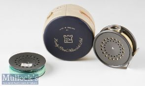 "Fine Hardy Bros England The Perfect 3 5/8"" alloy fly reel and spare spool"