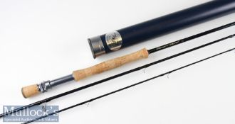 Fine Thomas and Thomas VE908S3 carbon trout fly rod – 9ft 3pc line 8# - with 2x lined butt and