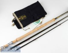 "Fine and unused Hardy Made in England ""Hardy Favourite Graphite Salmon Fly"" rod – 15ft 3pc line 10#,"