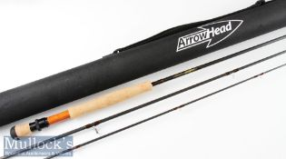 "Fine as new Michael Evans Arrowhead ""All Rounder"" carbon trout fly rod – 9ft 3in 3pc line 6/7# -"