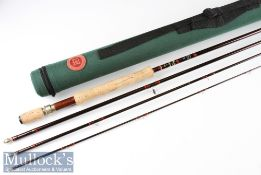 """Fine Hardy Bros Made in England """"The Hardy Sovereign"""" sea trout travel fly rod – 10ft 4pc line 7/"""