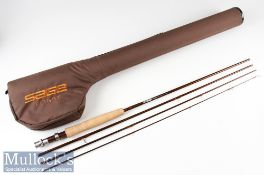 Fine Sage Flight 484 Carbon Travel Fly Rod - 8ft 6in 4pc line 4# - wt 3 1/8oz – fuji style butt