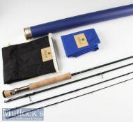 Fine Hardy Pro-AxisX Sintrix Carbon Travel Fly Rod – 9ft 4pc line 7# - bronzed screw up locking reel