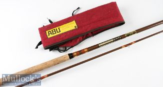 """Good Vintage Abu Made in Sweden """"Salmo 5810 Zoom"""" Abulon fly rod – 12ft 2pc line 9-10# - drop ring"""