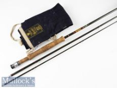"Hardy Bros Made in England ""Fred Buller Graphite Drifter"" fly rod – 11ft 3pc line 5#, with Fuji"