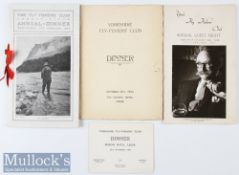 Collection of early Fly Fishers Club Dinner Menus from 1909 onwards (3) The Fly Fishers Club