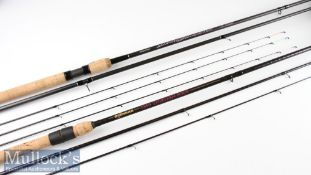 2x as new Drennan Carbon Speciman rods – fine Matchpro Quiver 10ft and 11ft Combo rod with 3 top
