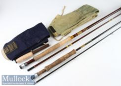 "2x Hardy Bros ""Made in England"" fly rods - ""Richard Walker Farnborough 9ft 2pc carbon fly rod-line"