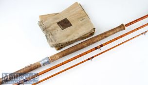 "Hardy Bros Alnwick ""The Wye"" Palakona Salmon fly Rod ser. no. H24254 – 12ft 6in 3pc with Agate lined"
