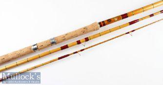 "Fine A E Rudge & Son Redditch ""Float Fisher"" Spanish Reed/Split Cane rod fully refurbished – 12ft"