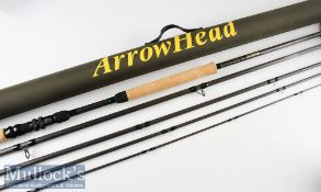 "Fine Michael Evans Arrowhead ""Speycaster"" Carbon Salmon Fly Rod – 15ft 5pc line 9/11# - fuji style"