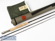 Fine as new Hardy Sirrus carbon fly rod – 9ft 3pc line 5# - with fuji style lined butt guide –