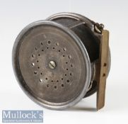 "Early Hardy Bros Alnwick 1912 Check The Perfect Pat 1912 Check 4.5"" alloy salmon fly reel – original"