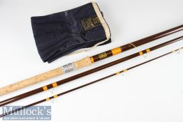 """Good Hardy Bros Made in England """"Matchmaker"""" Fibalite float rod – 13ft 3pc with amber agate lined"""