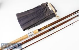 Good Bruce & Walker CTM 14 hollow fibre glass match rod – 14ft 3pc with pink lined butt and tip