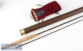 "Good Hardy's Made in England ""The Hardy Sovereign"" carbon/graphite brook fly rod - 7ft 6in 2pc"