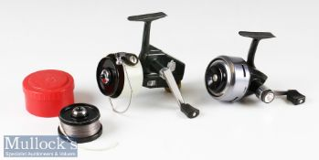 2x Abu Made In Sweden LHW spinning reels – Abu Cardinal 66 fixed spool reel c/w spare spool in
