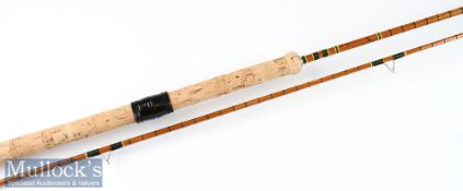 """Fine Benwoods London """"The Avon"""" split cane rod fully refurbished – 10ft 2pc with amber agate lined"""