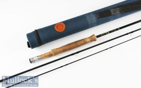"""Good Hardy's Made in England """"Hardy Gem"""" carbon fly rod – 9ft 2pc line 6# - 2x Fuji style line"""