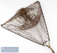 "Vintage Hardy's Made in England ""Atlas"" heavy duty alloy and brass collapsible salmon landing net"