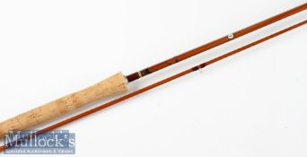 """Fine J S Sharpe Ltd Aberdeen """"The Scottie"""" impregnated trout fly rod – 10ft 2pc - line 6/7# - with"""