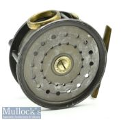 """J S Sharpe of Aberdeen 4"""" The Scottie alloy fly reel in Perfect style, with cooper O ring line"""