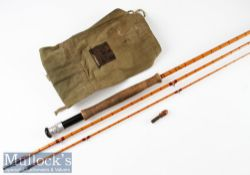 "Hardy Bros Alnwick ""The Gold Medal"" Palakona trout fly rod ser. no. H9422 10ft 3pc with clear"