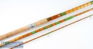 """Fine Sealey Octopuss """"Match Rod"""" Spanish Reed/Split Cane rod fully refurbished – 12ft 3pc with whole"""