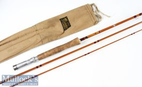"Good J S Sharpe Ltd Aberdeen Scottie Brand ""The Aberdeen"" split cane trout fly rod made for Farlow"