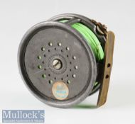 "Early Hardy Bros Alnwick 1912 Check The Perfect Pat 1912 Check 4"" alloy salmon fly reel – original"