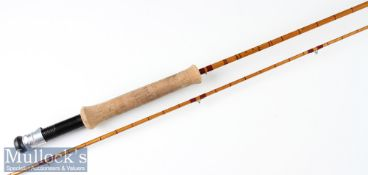 """Very good Falcon Redditch """"The Kestrel No. 827"""" split cane trout fly rod – 8ft 2pc with amber"""