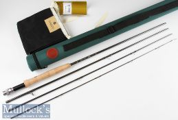 Fine unused Hardy Jet Sintrix Carbon Travel Fly rod – 9ft 4pc line 5# - still retaining the original