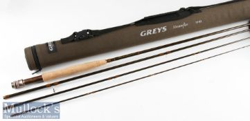 """Fine as new Greys Alnwick """"The Streamflex"""" carbon trout travel fly rod c2018 – 10ft 3pc line 5# -"""