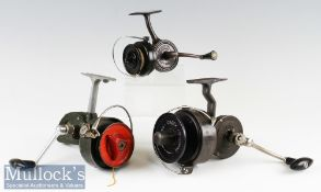 Large French 'Crack 300' Fixed Spool Reel LHW^ Mitchell style handle^ together with a DAM 'Quick