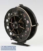 """Mordex of Sheffield 'The Merlin' 4 ½"""" centrepin trotting reel with 6 spoke Aerial style drum^"""