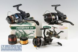 Mitchell 'Predator 60' Free Spool Reel with rear drag and spare spools^ together with a Mitchell
