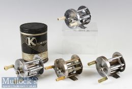 4x American Baitcasting Reels to include South Bend level wind casting reel No 1200 multiplying